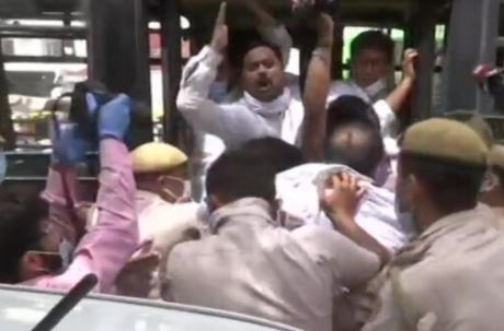 Congress workers detained