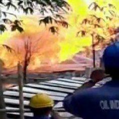 Big explosion near baghjan oil well