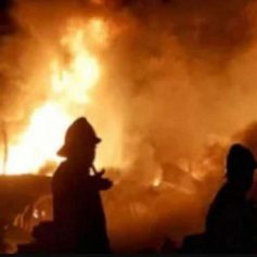 fire in Shahbad Dairy area