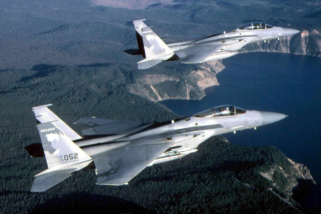 US fighter jets approach