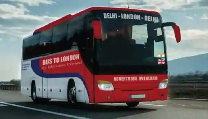 delhi to london by bus