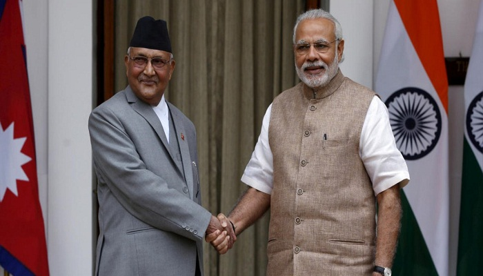 Oli calls PM Modi