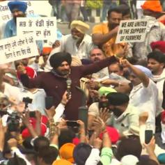 navjot sidhu farmer bill protest