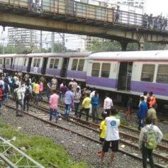 local train coach derailed