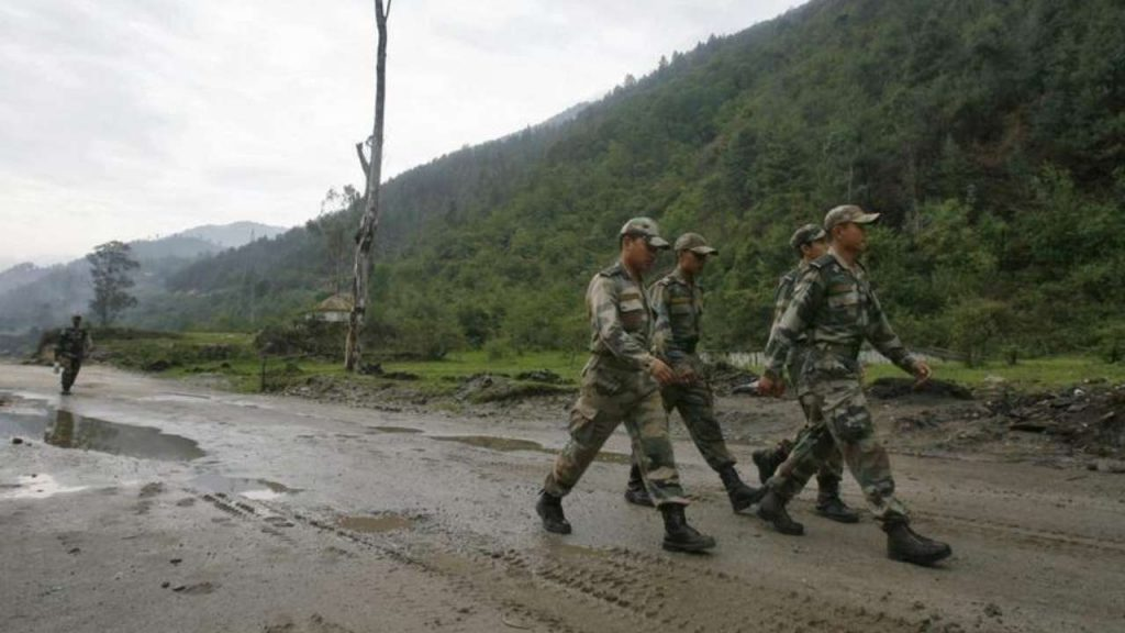 Five persons abducted by Chinese Army