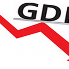 Historic decline in GDP