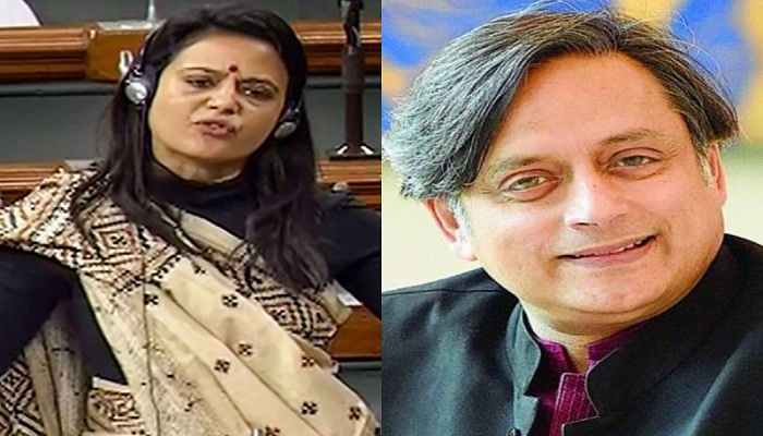 tharoor and moitra targeted modi govt