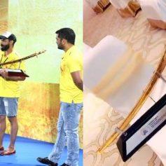 CSK presents a golden sword