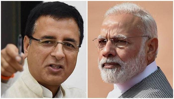 randeep surjewala hits at modi govt
