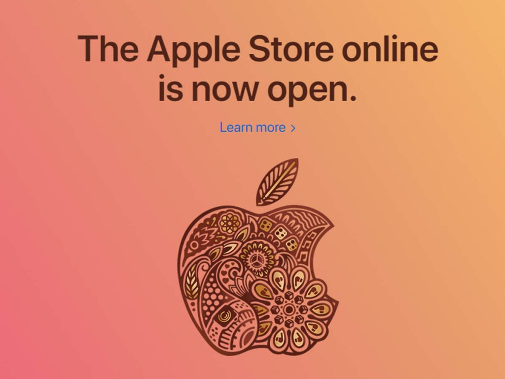 Apple Store online now available