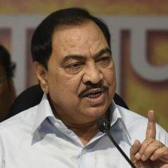 maharashtra bjp leader eknath khadse resigns