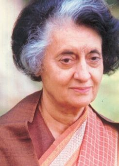 Indira Gandhi faced
