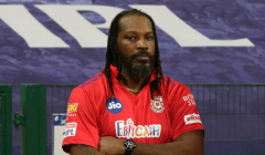 Gayle recovers from abdominal pain