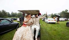 indian origin couple drive in wedding