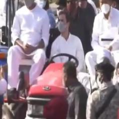 rahul gandhi haryana border rally