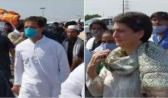 rahul priyanka stopped at yamuna expressway