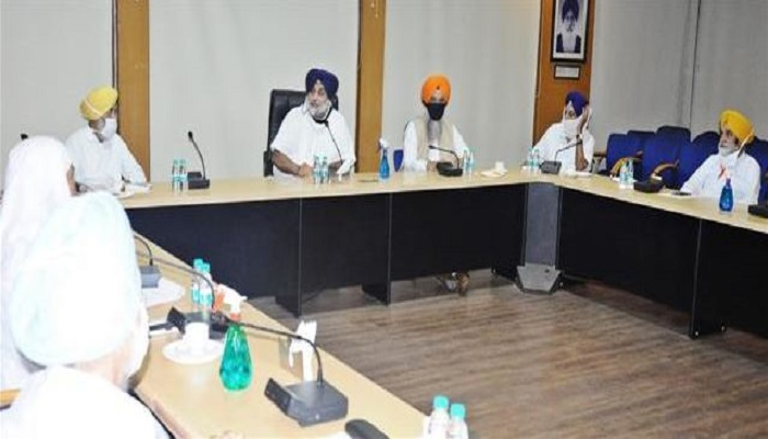 Akali Dal core committee meeting
