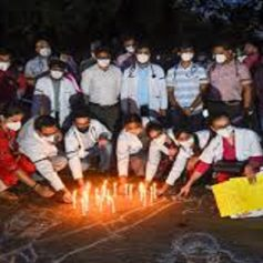 delhi doctors protest at jantar mantar