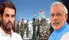 rahul gandhi attack modi on china matter