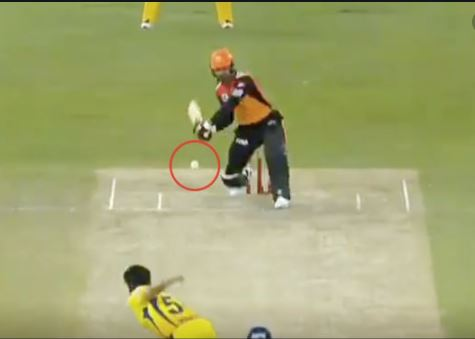 Umpire Changes Wide Ball Decision