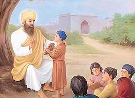Guru Nanak Dev Ji reading
