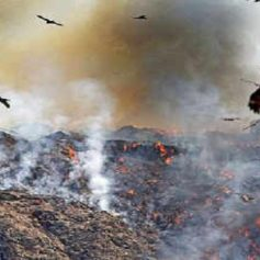 Fire on ghazipur landfill site