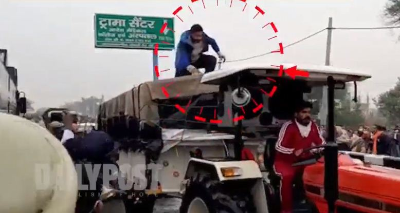 Ambala man who climbed water cannon