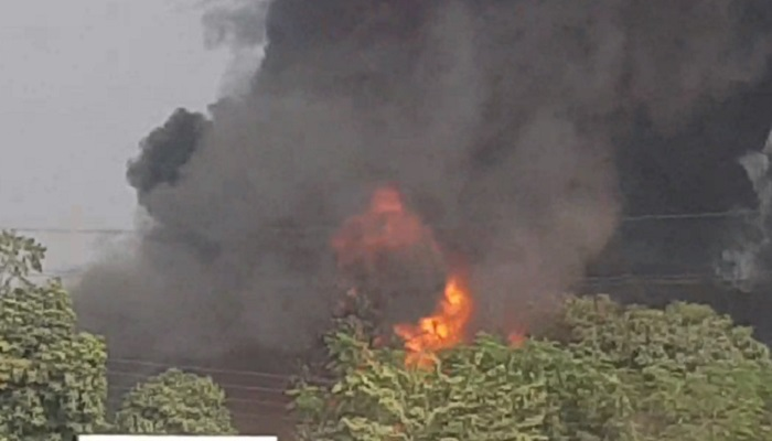 Terrible fire chemical factory