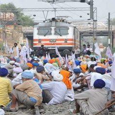 Punjab farmers protest railways