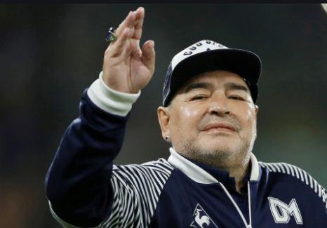 Argentinian football legend Diego Maradona