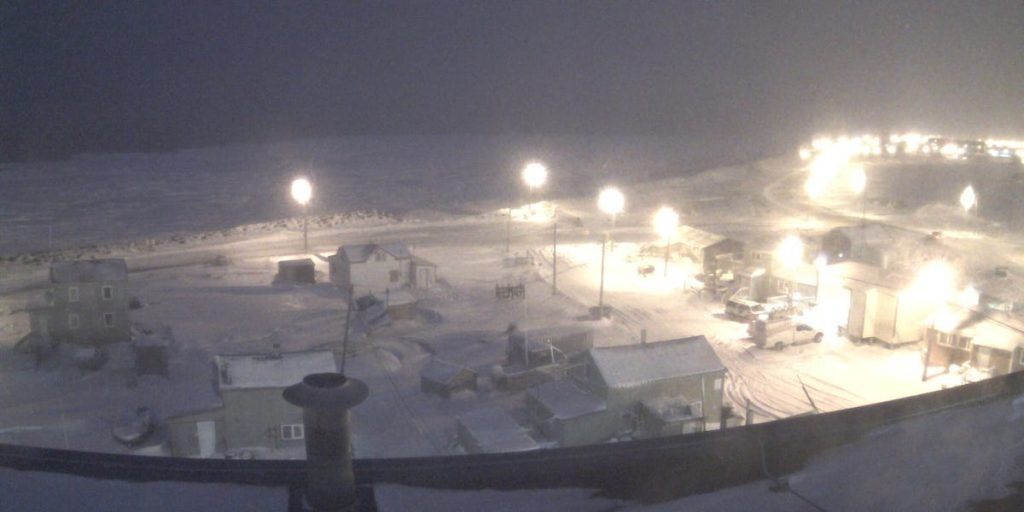 Utqiaġvik Alaska polar night