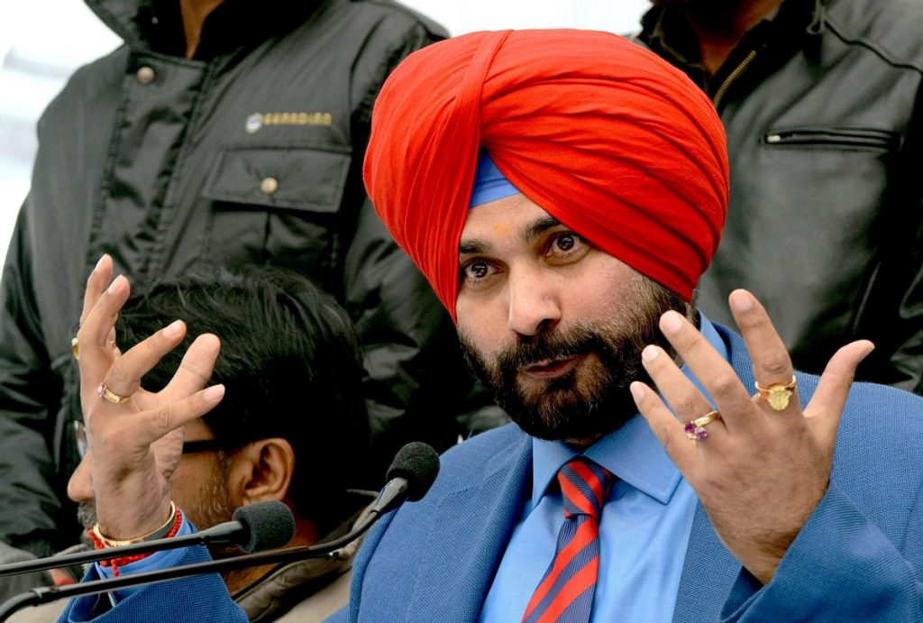 Sidhu lashed out at central government