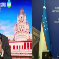 PM Modi Talking With Shavkat Mirziyoyev
