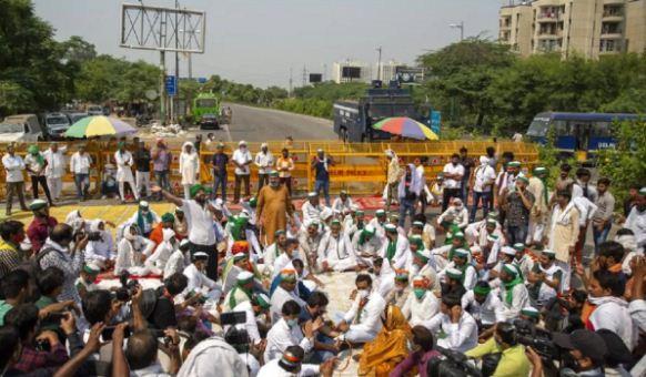 Farmers Protest traffic advisory
