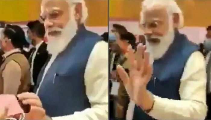 Aam aadmi party shared pm modi video