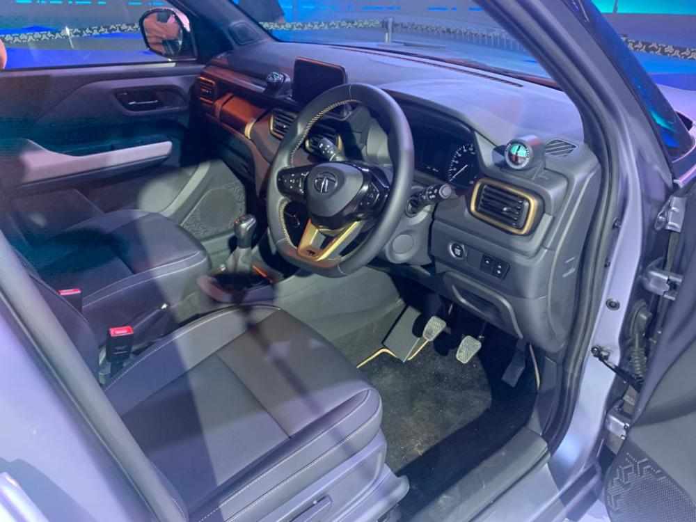Tata HBX Interior Spied
