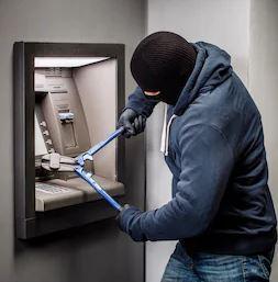 ludhiana thieves ATM fire