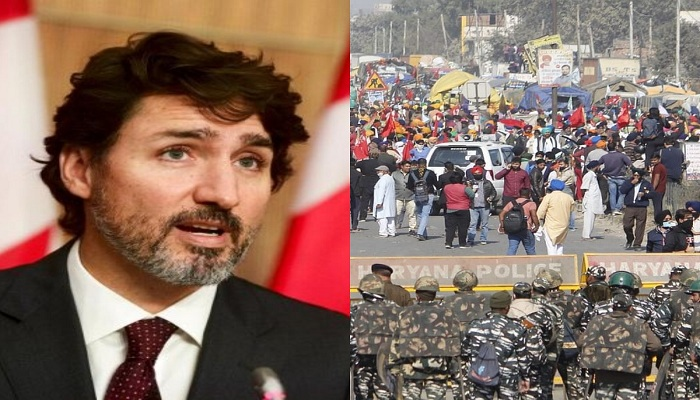 Trudeau reacts to ongoing farmers protest