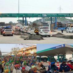 Farmers protest toll plaza free