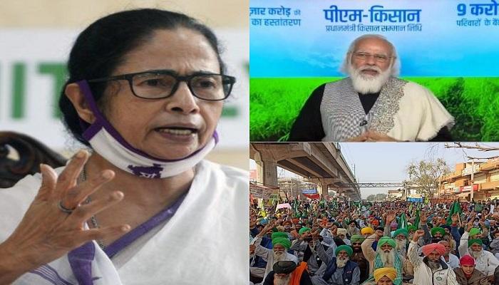 Mamta said modi is lying on farmers