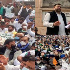 Tejashwi yadav protest in bihar