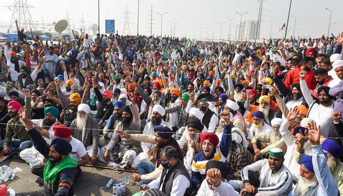 Farmers protest indian kabaddi players