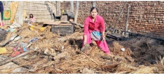 machhiwara fire slums burnt