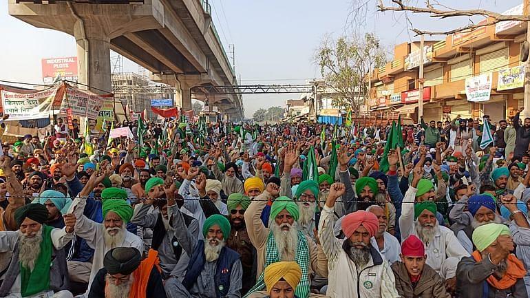 Farmers protest tmc mp