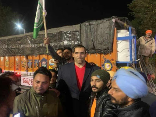 Farmer protest the great khali