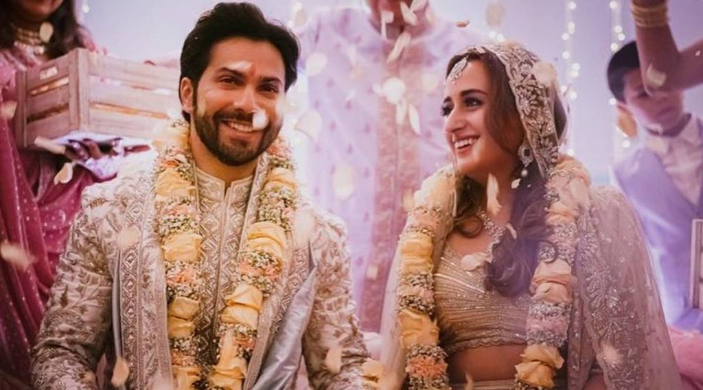 Varun and Natasha's wedding reception