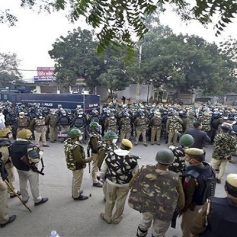 Delhi police action on tractor rally