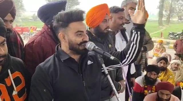 Resham Singh Anmol at Protest