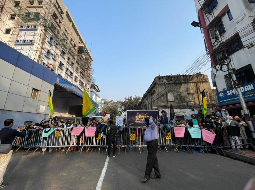 Farmers protest pm modi