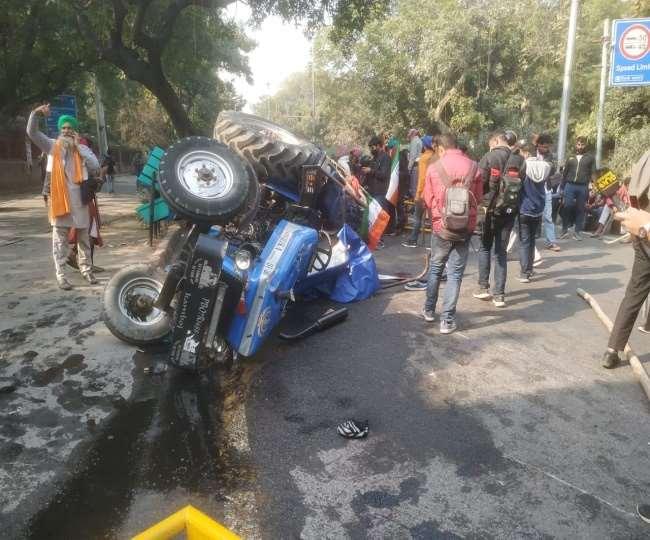Tractor parade protest farmer dies